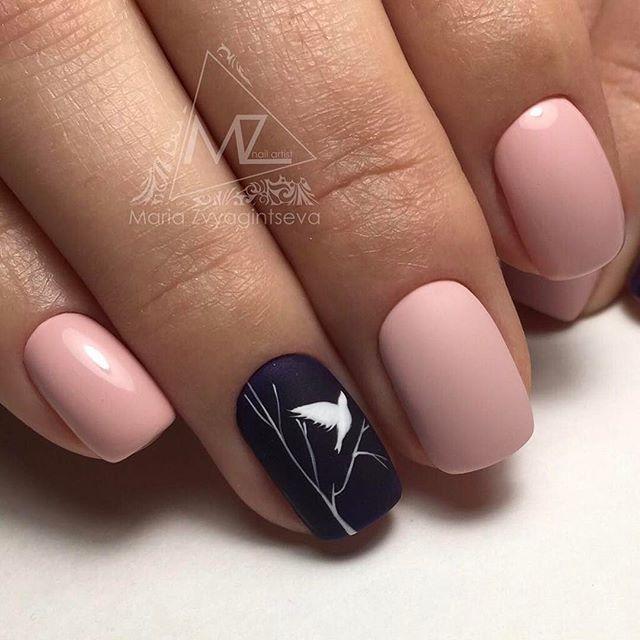 Ногти Накрашенные Черным Лаком Фото