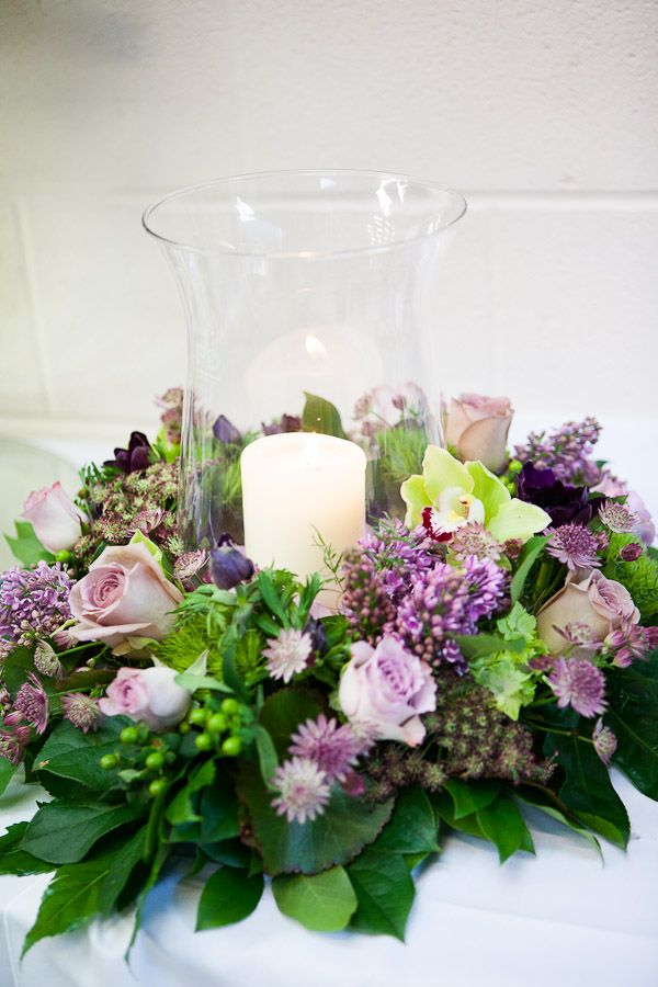 Flower Design Events: Bridal Flower Lavender & Lilac Loveliness; A Church Pedestal, Enchanted Tree, Candelabra, Floral Seating Plan, Wedding Bouquet & Table Centrepieces