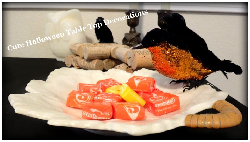 Great Halloween Tabletop Decoration Ideas - I really liked the crows - halloween food decoration