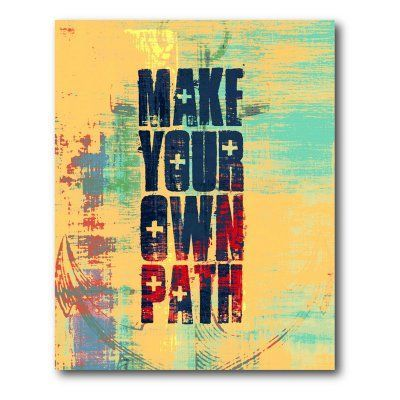 Own Path Canvas Wall Art - 16W x 20H in. - WEB-T126 | Canvases and ...