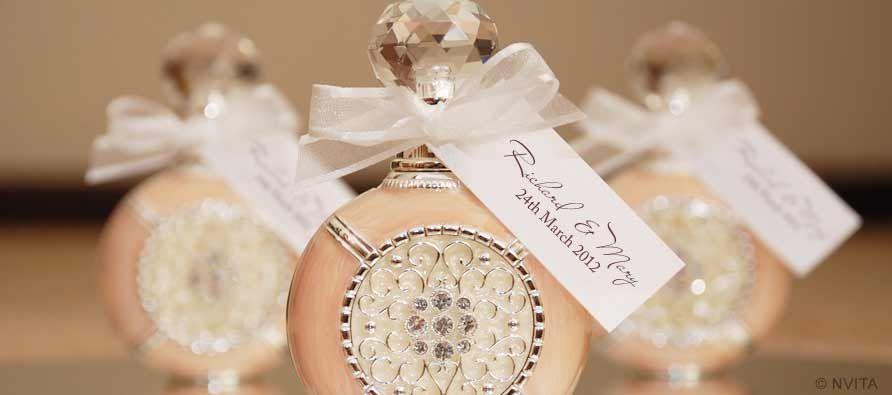 Wedding Bomboniere Gifts: Crystal Enamel Perfume Bottle Bomboniere Gift Wedding
