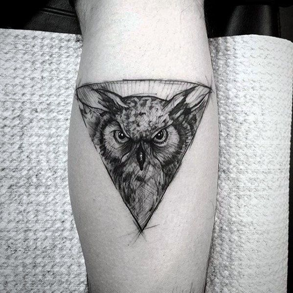 80 Geometric Owl Tattoo Designs For Men Shape Ink Ideas Geometric Owl Tattoo Mens Owl Tattoo Owl Tattoo Small