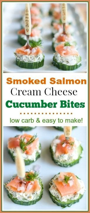 Smoked Salmon Cream Cheese Cucumber Bites - A Fork's Tale