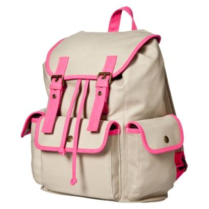 Neon pink detailing on this backpack from Target... When you have ...