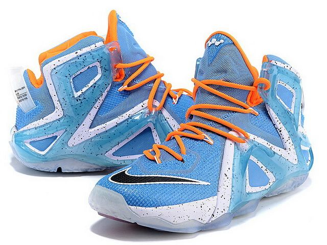 Nike Lebron 12 Elite Blue Orange-Red White Black.jpg (640�480