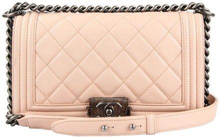 Chanel Light Pink Calfskin Leather Old Medium Boy Shoulder Bag. Get one of  the hottest 4aeb76f44c99f