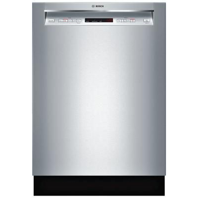 Bosch 300 Series 24 In Stainless Steel Front Control Tall Tub Dishwasher With Stainless Steel Tub And 3rd Rack 44dba Shem63w55n The Home Depot In 2021 Steel Tub Tub Stainless Steel Cleaning