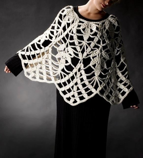 Maravilloso, quien pudiera..!!! Crochet Shawls: Poncho | crochet ...