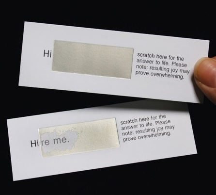 Clever Business Card For The Unemployed Designed By Megan Mins