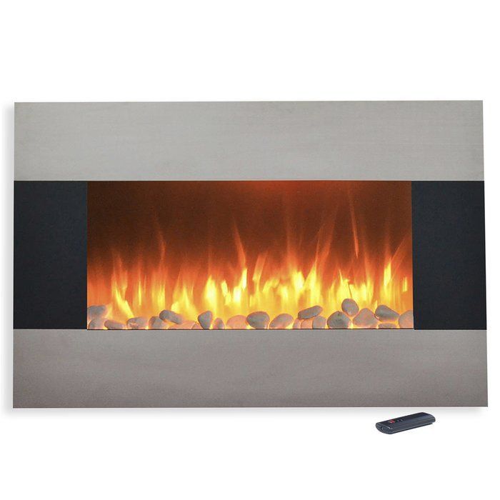 Bring the beauty and warmth of a remote controlled electric fireplace to your living space with this stunning Northwest stainless steel fireplace. Stay cozy and warm while enjoying a beautiful fire without the dangers and maintenance of a real fireplace. Includes wall mounting hardware and floor stand for easy installation. The beautiful stainless steel finish front panel adds a modern look to your decor. With adjustable flame brightness, two different heat settings and remote control you…