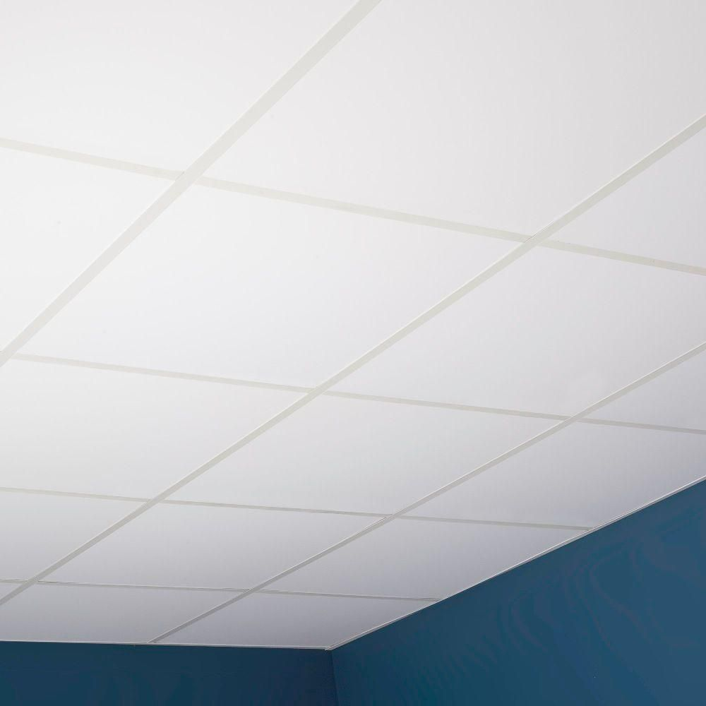 Genesis 2 Ft X 2 Ft Smooth Pro Lay In Ceiling Tile 740 00 The Home Depot Drop Ceiling Alternatives Dropped Ceiling Ceiling Alternatives