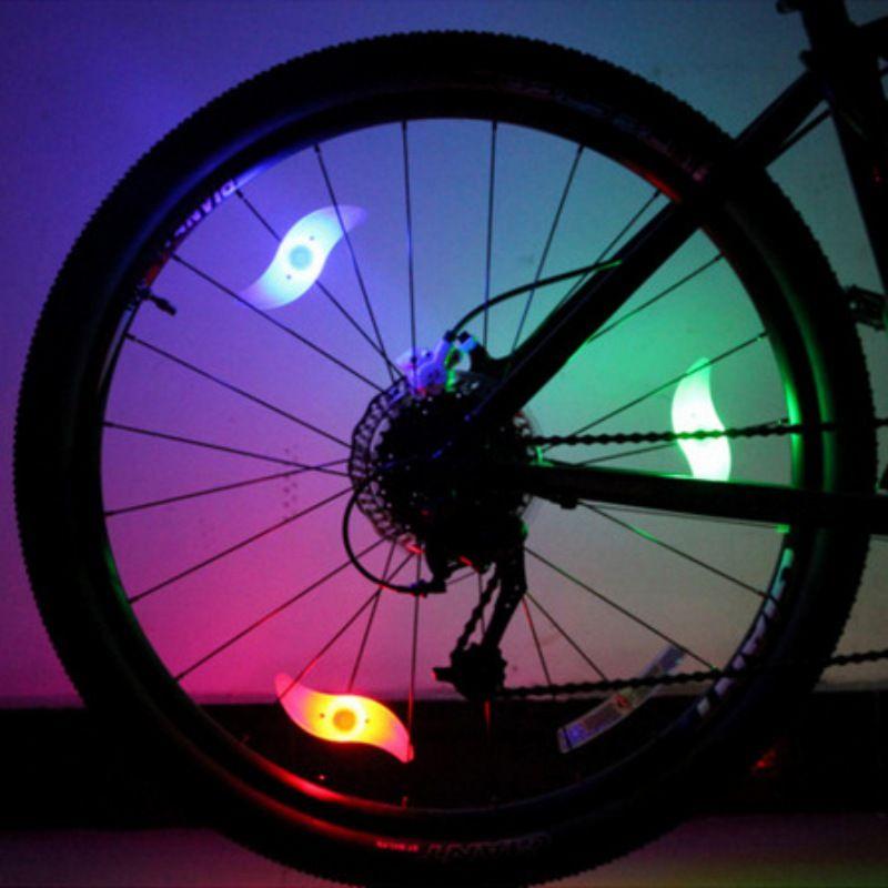 LED 빛 스포크 멋진 자전거 자전거 램프 1 개 자전거 휠 와이어 타이어 밝은 점멸