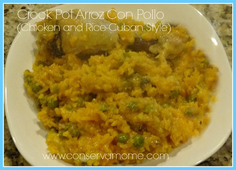 Easy Spin on Chicken with a crockpot! Arroz Con pollo (Chicken and rice Cuban style)