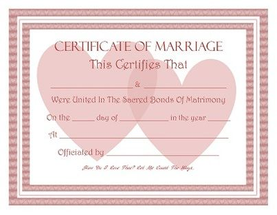 Free Keepsake Marriage Certificate Template  All Things Wedding