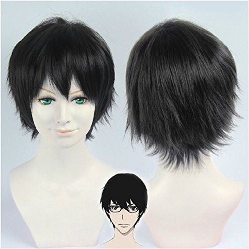 Flovex Short Black Anime Cosplay Wig Zankyou No Terror Nine Costume Party Hair You Can Find Out More Details At The Link Cosplay Wigs Wigs Black Cosplay Wig