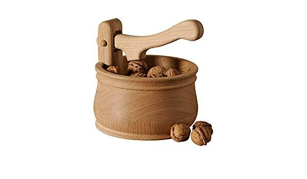 Photo of Bianchini & Capponi Nutcracker with walnut bowl in raw solid wood – Made in Italy