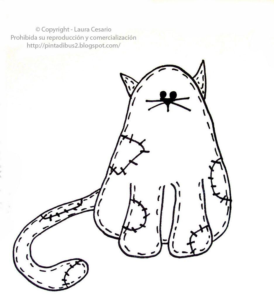 Dibujos para imprimir y colorear: Dibujo de gato para imprimir y ...