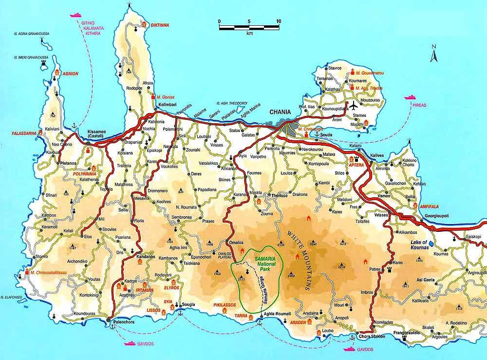Map of Crete Click to enlarge Travel Holiday Pinterest