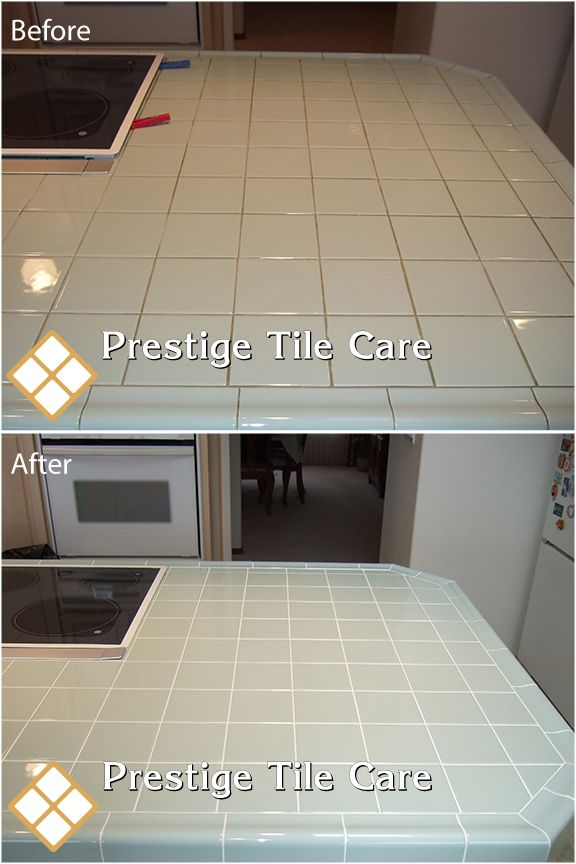 Regrouting A Kitchen Countert Seattle Tile And Grout Cleaning