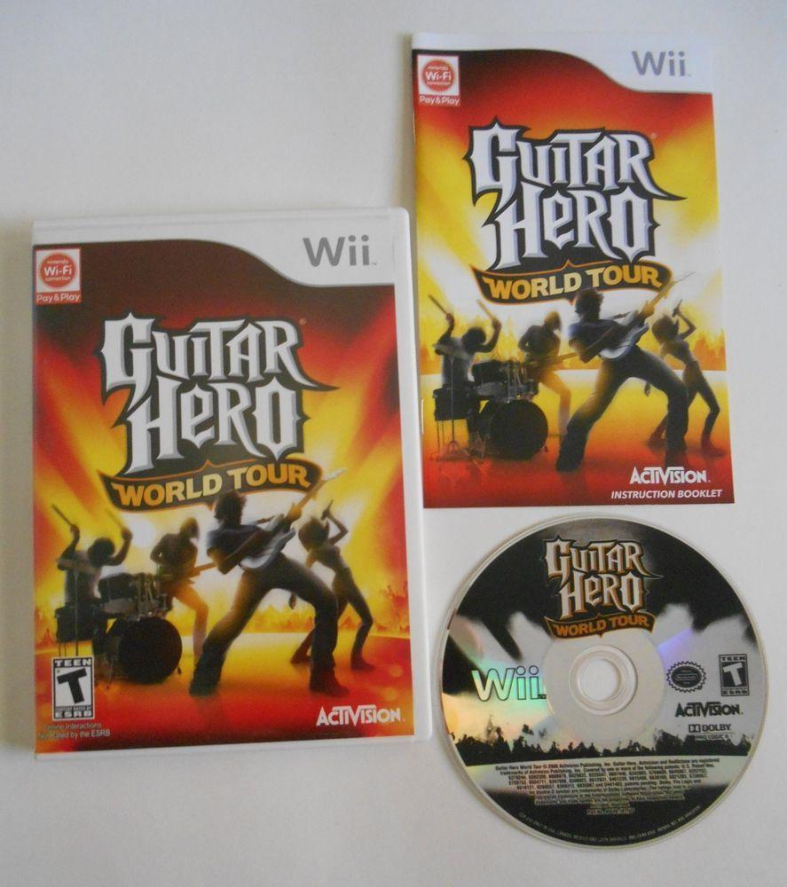 Guitar Hero: World Tour (Nintendo Wii, 2008) Tested and Working with Manual  USA #Nintendo