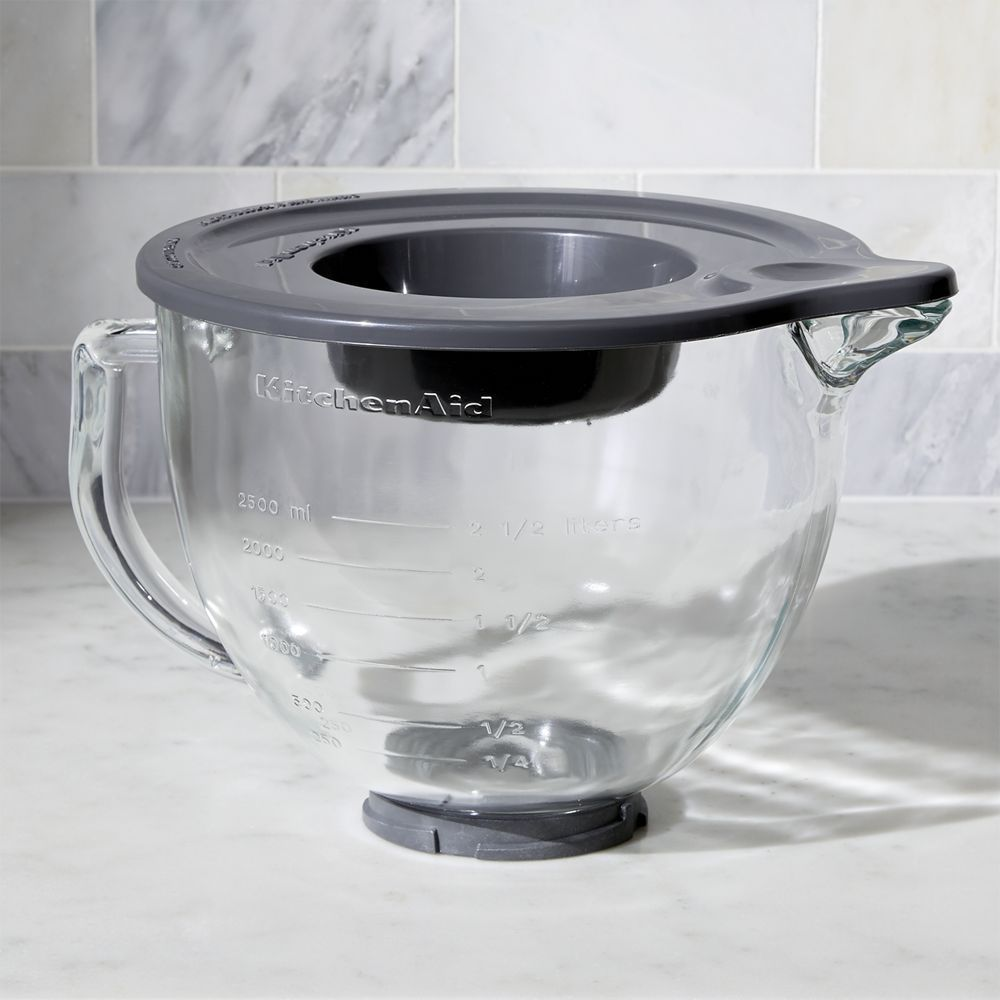 KitchenAid ® Stand Mixer Glass Mixer Bowl - Crate and Barrel Learn ...