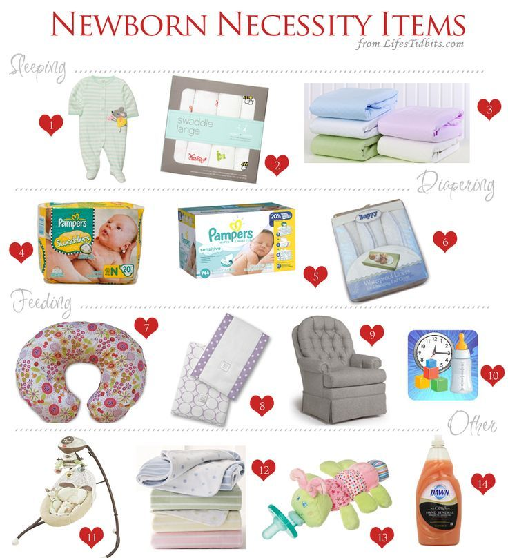 Newborn Necessity Items  Newborn Necessities Baby Registry And