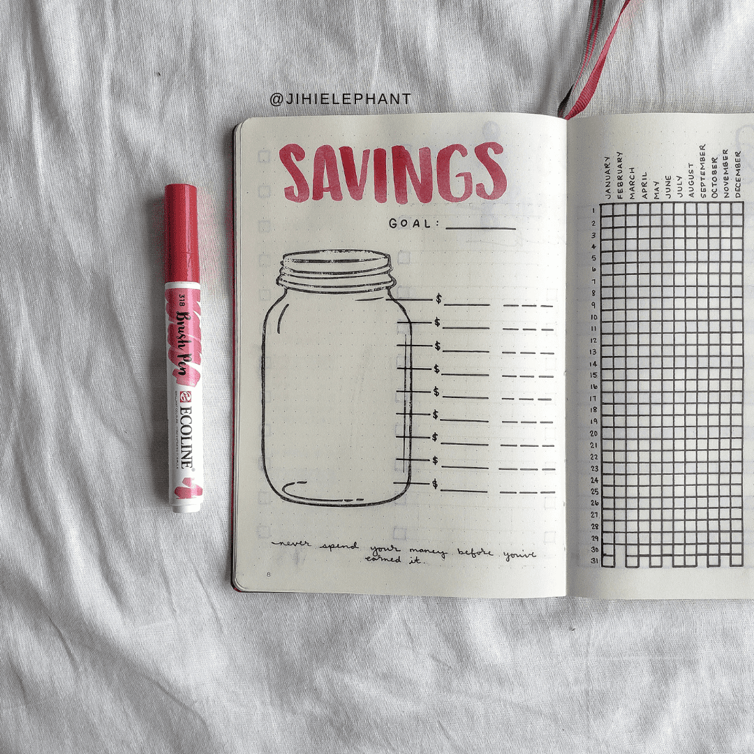 Rhiannon's Berry Pink Bullet Journal | Plan-with-Me | ElizabethJournals