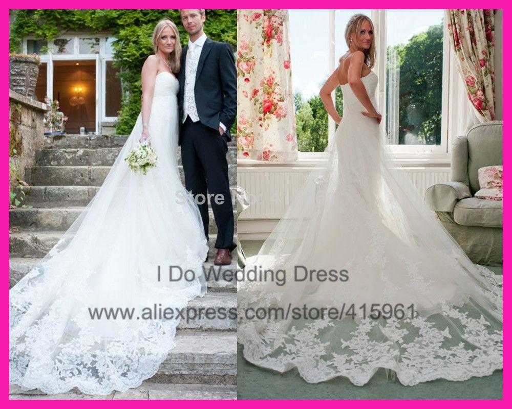 Free wedding dress   Vintage Sweetheart Mermaid Lace Wedding Gowns Bridal Dresses