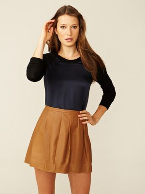 Rebecca Taylor Silk and Jersey Raglan Top -- gorge! A simple style kicked up a notch :-)
