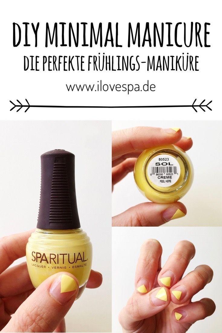 DIY Minimal Manicure gelb - Schlichtes Nageldesign für den Frühling