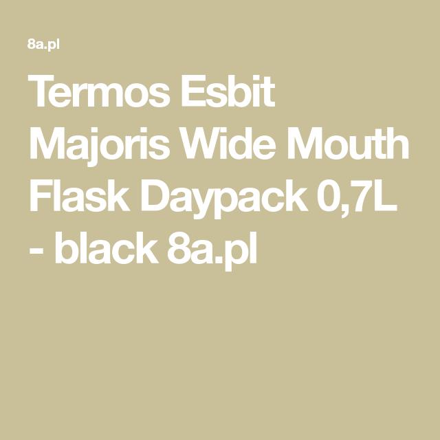 Termos Esbit Majoris Wide Mouth Flask Daypack 0 7l Black 8a Pl Flask Daypack Mouth