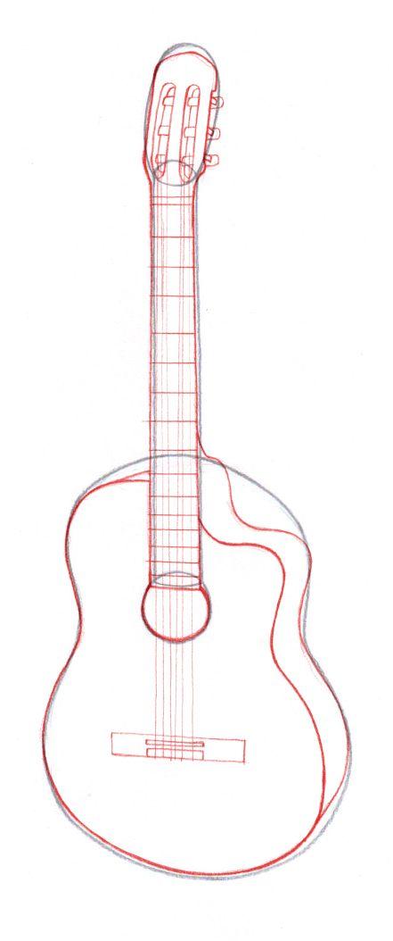 Bildtitel Draw Guitars Step 5