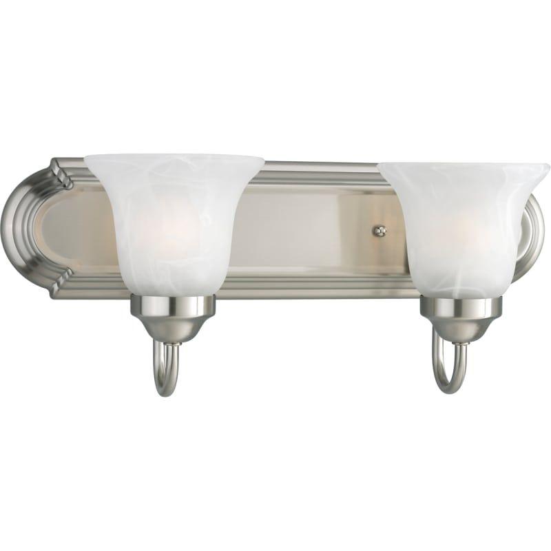 Photo of Progress Lighting P3052-EBWB Builder Bath series Energy-efficient two-light bath made of brushed nickel Interior lighting Bathroom fittings Wash basin lamp