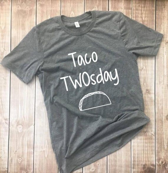 Taco TWOSday Shirt Tee Birthday For Parents Tuesday Second B