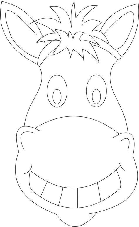 Horse Mask Coloring Page Pictures