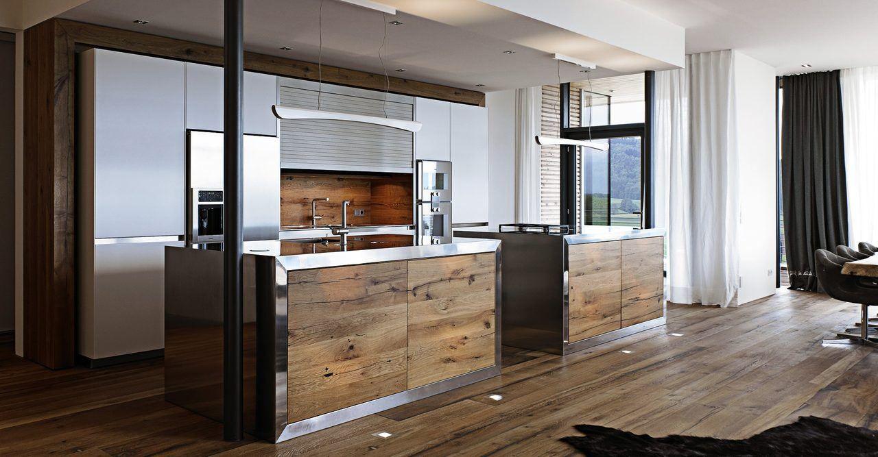 Cocinas Rusticas Modernas Con Metal Oscuro Cocinas En 2018 - Cocinas-rusticas-modernas-fotos