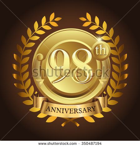 98th golden anniversary wreath ribbon logo - stock vector #wreath #years #business #vector #sign #wheat #celebration #element #black #imperial #design #birthday #wedding #golden, #vintage #background #royal #year #advertisement #ceremony #medal #corporate #anniversary #success #template #luxury #event #emblem #modern #icon #certificate #age #gold #ad #badge #congratulation #classic #five #celebrating #laurel #happy #ribbon #5 #100th #10th #50th #90th #80th #70th