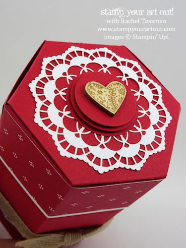 Valentine Gift Box Made With The Window Thinlits Products From Sending Love Suite Stampyourartout