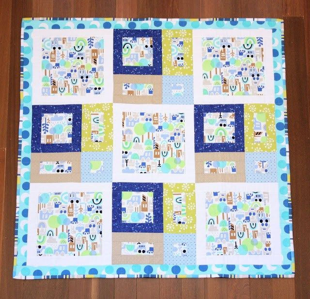 All Around The Town Baby Quilt - A Spoonful of Sugar