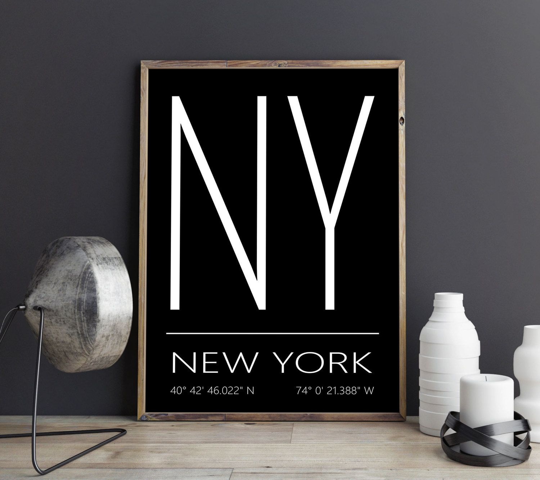 New York City Art Print New York Poster New York Print New York