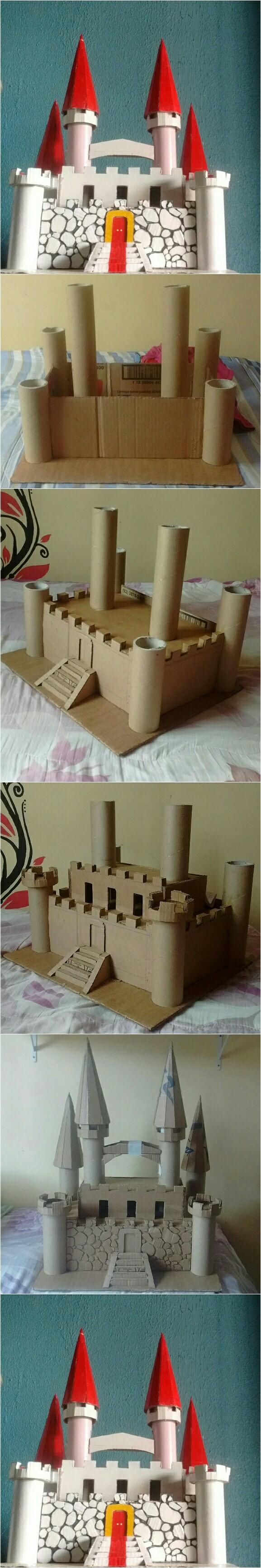 Castelo De Papelão Castelos Castle Crafts Crafts For Kids E Decor