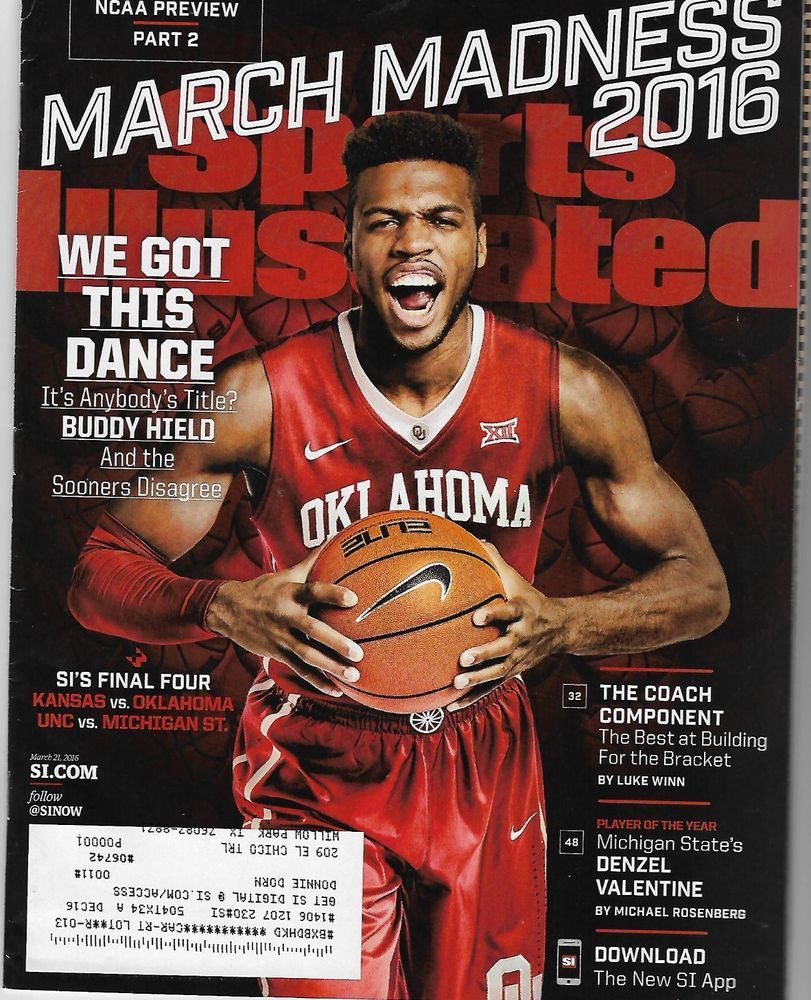 March 23 2015 Frank Kaminsky Wisconsin Badgers Sports Illustrated NO LABEL WB