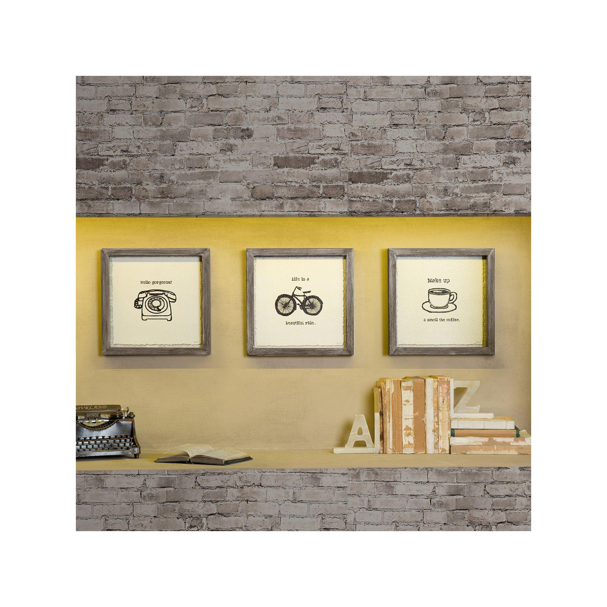 Intelligent Design 3-piece \'\'Morning News\'\' Canvas Wall Art Set ...