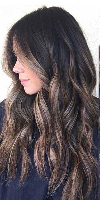 Grandma's next hairstyle (dark brown and grey highlights)
