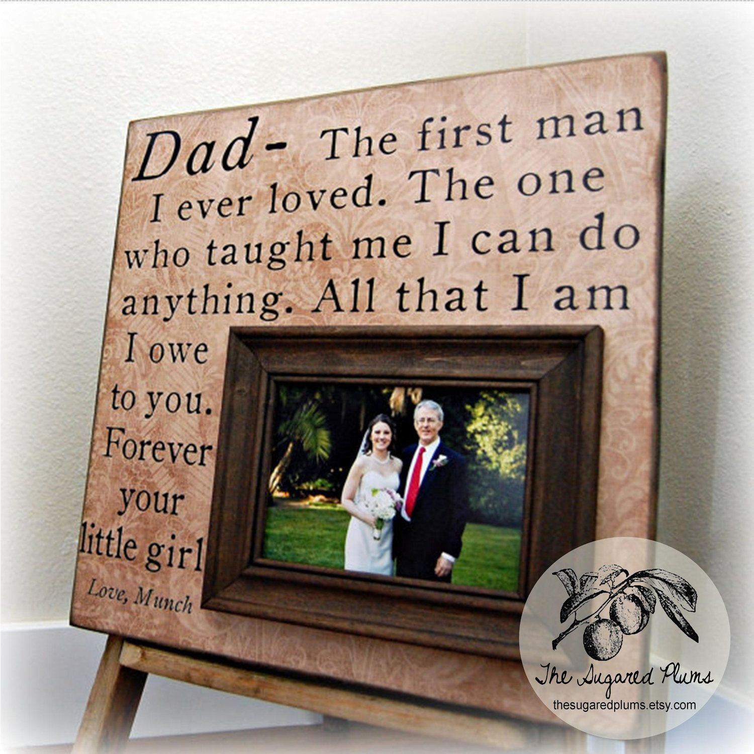 Father of the Bride Gifts Personalized Picture Frame 16x16 Mother ...