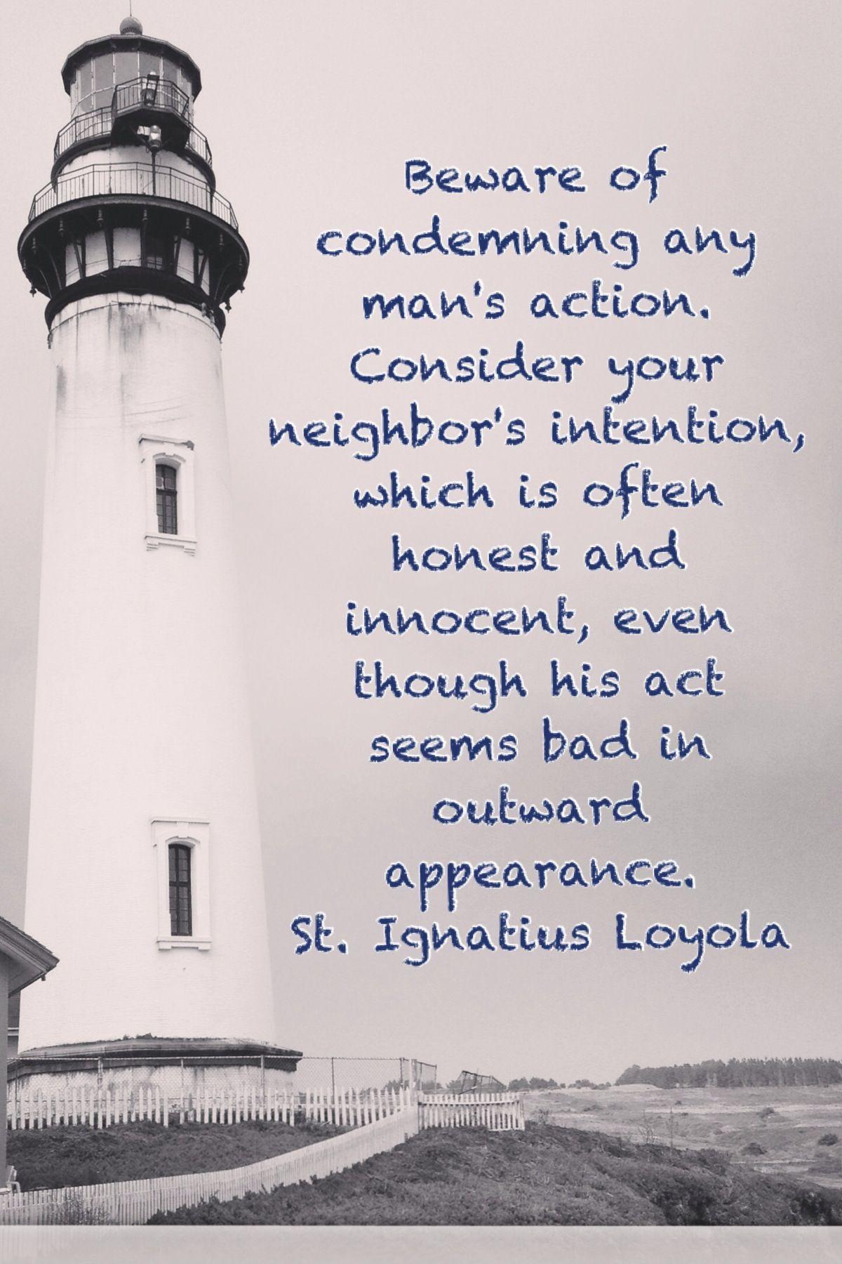 St. Ignatius Loyola Quote   Quotes   Pinterest   Saints, Wisdom and ...