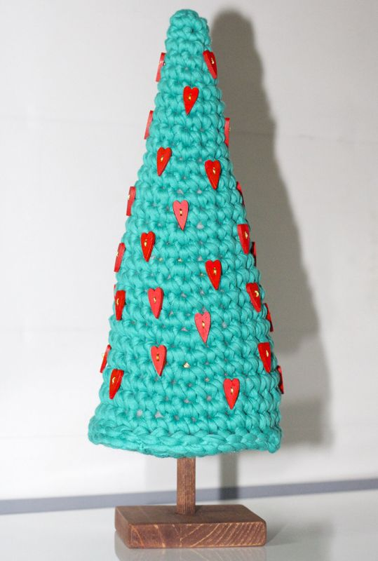 Árbol de Navidad de Trapillo ~ Patrón Gratis en Castellano ...