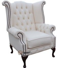 Chesterfield Chatsworth Queen Anne High Back Wing Chair Uk