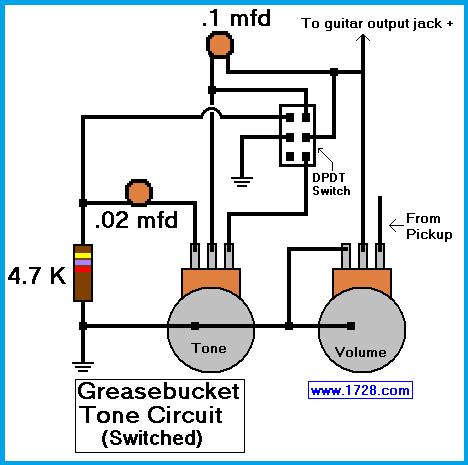 Greasebucket Tone Circuit For Guitar Pedal Steel Guitar Circuit