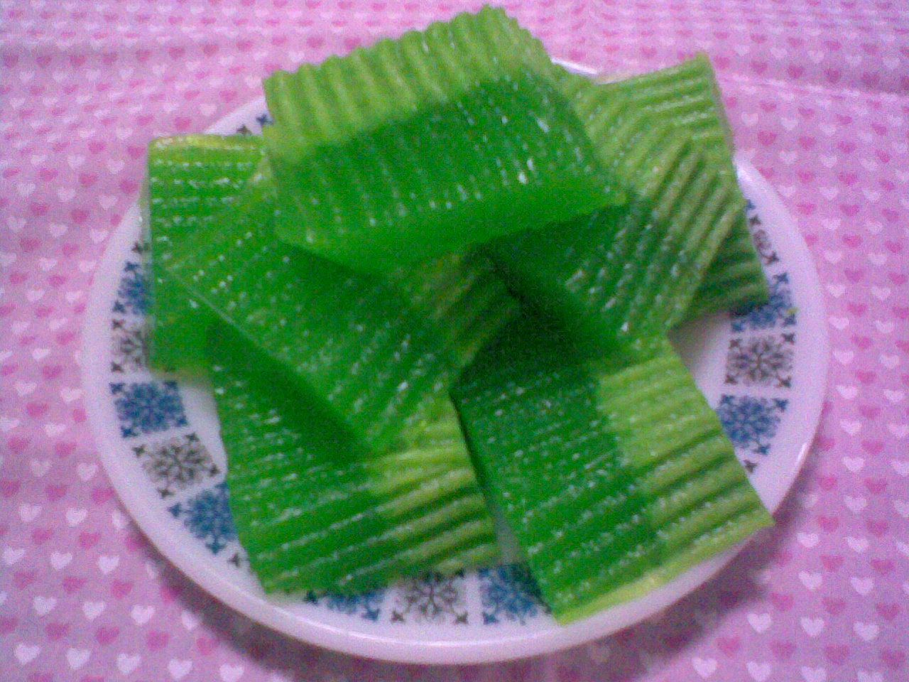 Pandan Cake Jelly Recipe: Agar, Custard And Cold Desserts